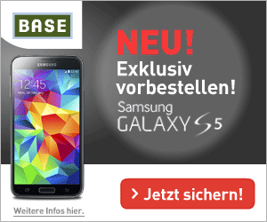 BASE all-in und Samsung Galaxy S5 Aktionsangebot