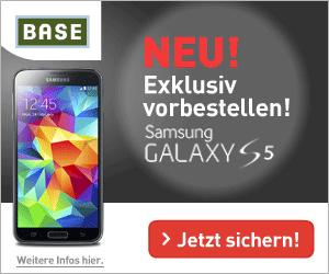 BASE all-in und Samsung Galaxy S5 Aktionsangebot