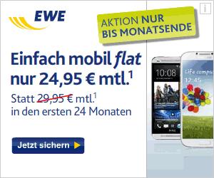 EWE Einfach Mobil flat mit Top Smartphones
