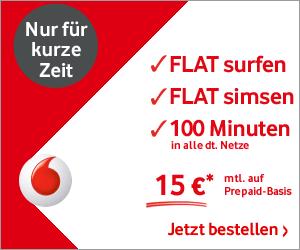 Vodafone CallYa Smartphone Fun 15 mit Surf-SMS-Flat