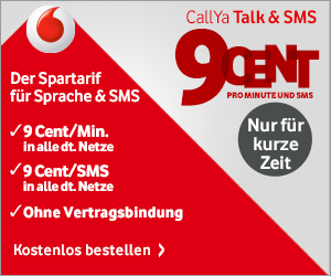 Vodafone CallYa Talk SMS ohne Vertragsbindung