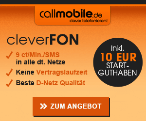 callmobile.de cleverFON Einstiegstarif im D-Netz