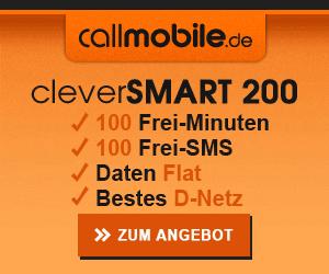 callmobile.de cleverSMART 200 Smartphone-Tarif