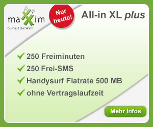maXXim All-in XL plus mit Handysurf-Flatrate