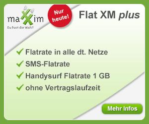 maXXim Flat XM plus mit bester o2-Netz Qualität