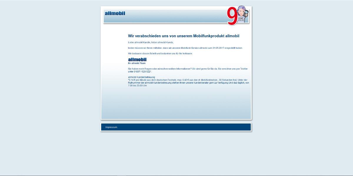 allmobil Mobilfunk Homepage