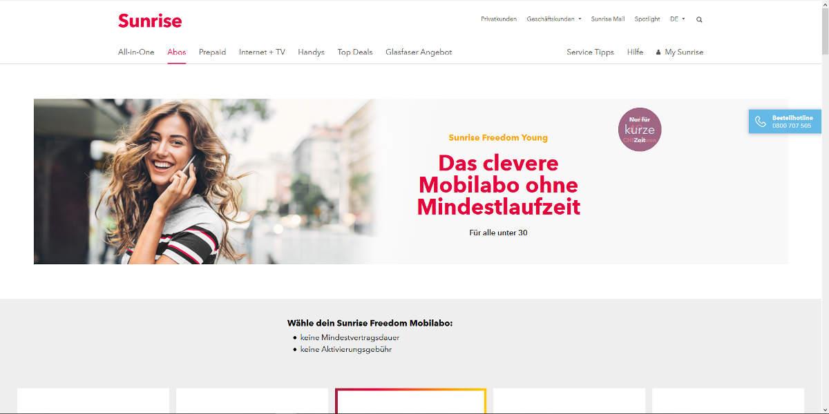 MTV Mobile Mobilfunk Homepage